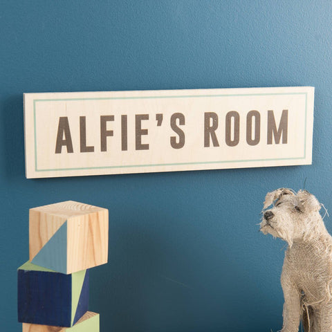 Personalised Wooden Room Name Sign