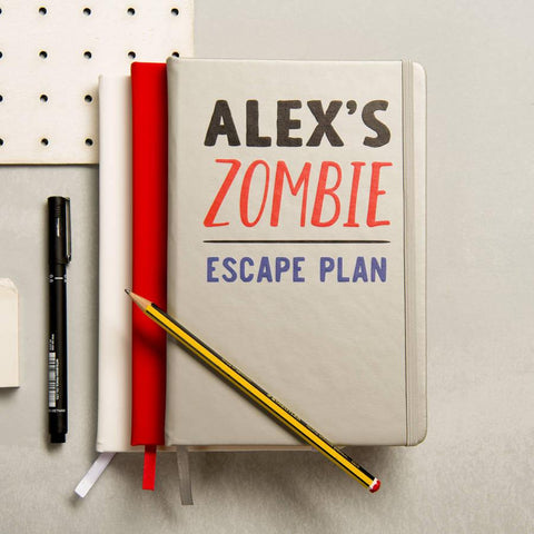 Personalised Zombie Escape Plan Notebook - Oakdene Designs - 1