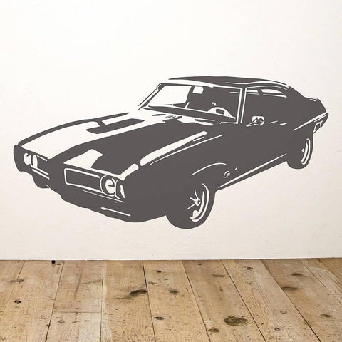 Pontiac Muscle Car Vinyl Wall Sticker - Oakdene Designs - 1