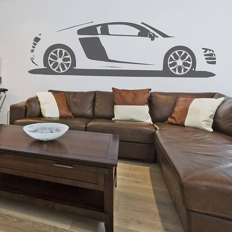 R8 Sports Car Vinyl Wall Sticker - Oakdene Designs - 1