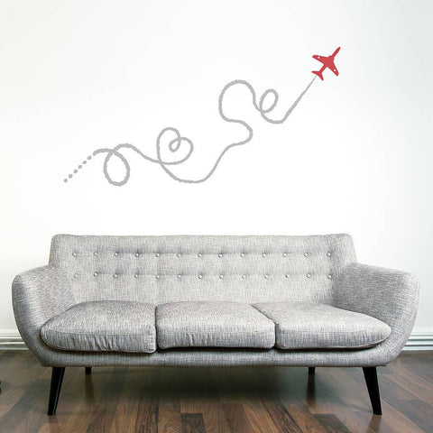 Red arrow plane wall sticker oakdene designs 4