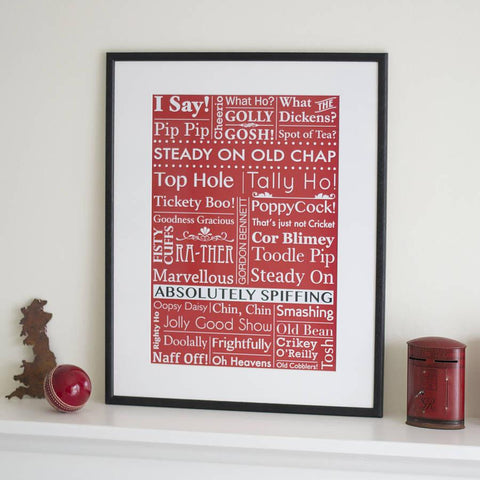 Old English Sayings Art Print - Oakdene Designs - 1
