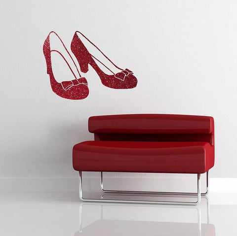 Ruby Slipper Vinyl Wall Sticker - Oakdene Designs
