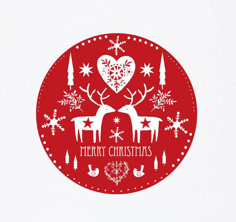 Scandinavian Christmas Wall Sticker - Oakdene Designs - 1