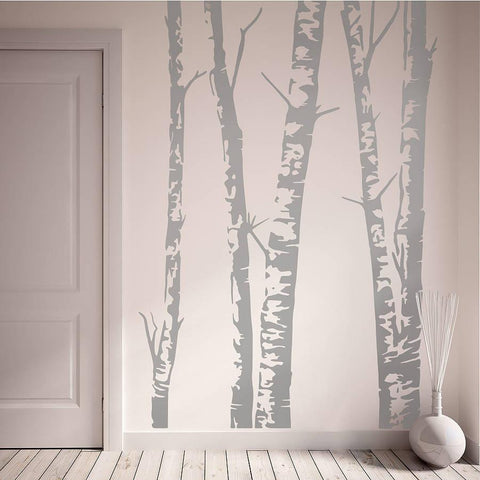 Silver Birch Trees Vinyl Wall Sticker - Oakdene Designs - 1