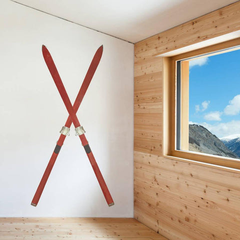 Ski Set Wall Sticker - Oakdene Designs - 1