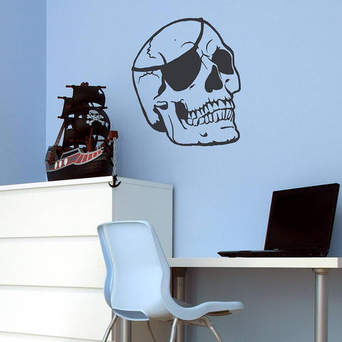 Skull Vinyl Wall Sticker - Oakdene Designs - 1