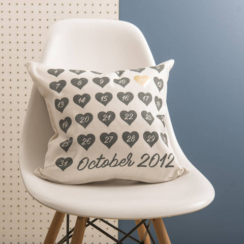 Special Date Black And Gold Cushion