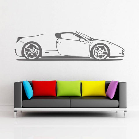 Spider Sports Car Vinyl Wall Sticker - Oakdene Designs - 1