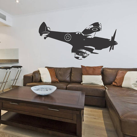 Spitfire Side Vinyl Wall Sticker - Oakdene Designs