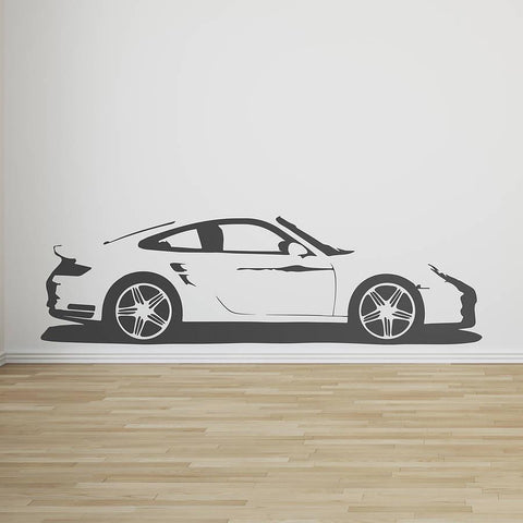 Sports Car Vinyl Wall Sticker - Oakdene Designs