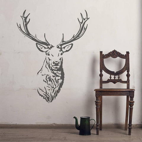 Stag Head Vinyl Wall Sticker - Oakdene Designs - 1