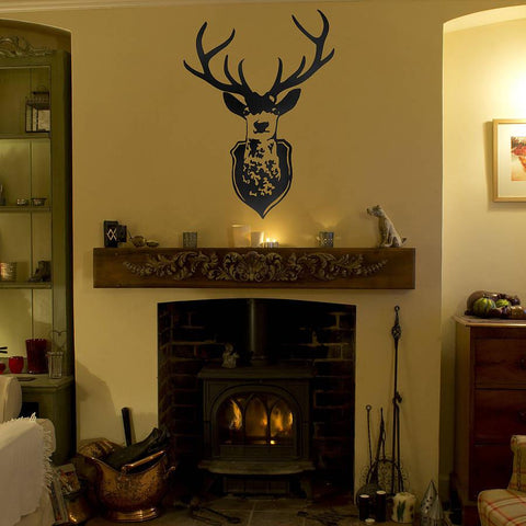 Stag's Head Wall Sticker - Oakdene Designs