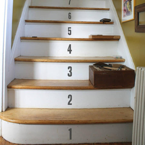 Stair Number Stickers - Oakdene Designs - 1