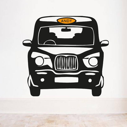 Personalised London Cab Front Wall Sticker - Oakdene Designs