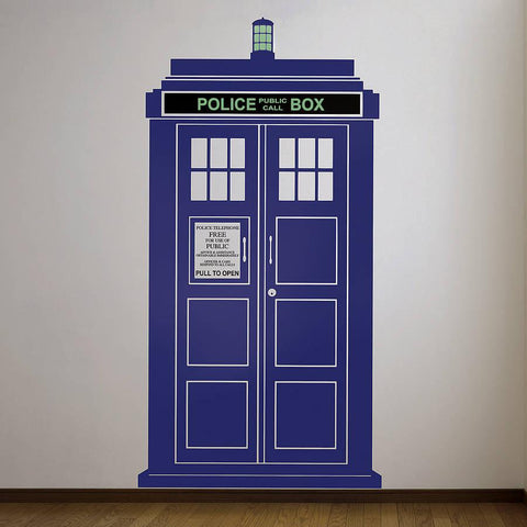 British Police Box TARDIS Wall Sticker - Oakdene Designs - 1