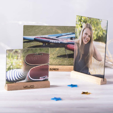Transparent Personalised Oak Photo Frame