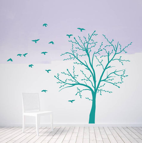 Tree And Birds Wall Sticker Set