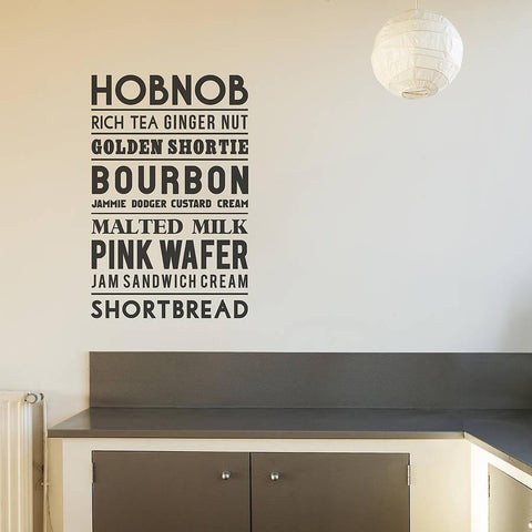 Typographic Biscuit Wall Sticker - Oakdene Designs - 1