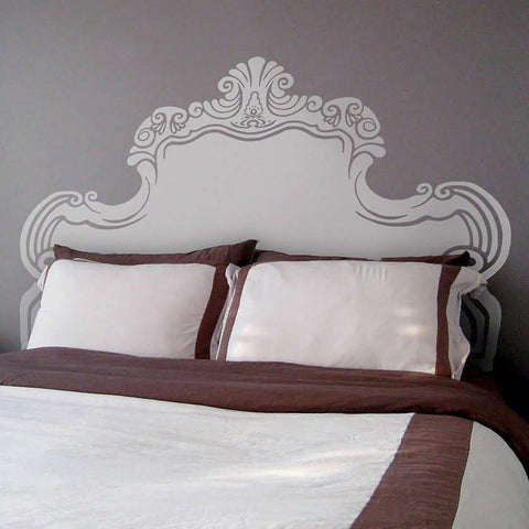 Vintage Bed Headboard Wall Sticker - Oakdene Designs - 1