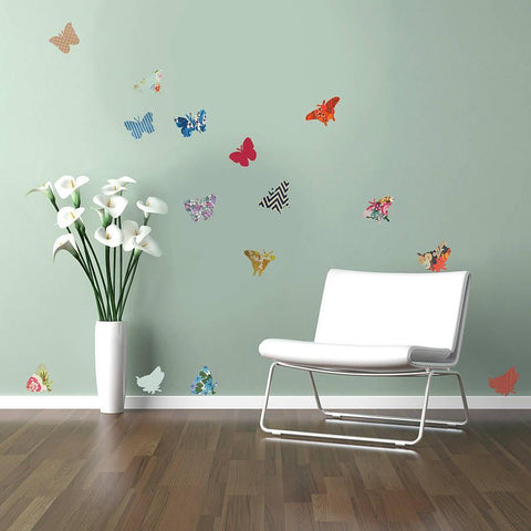 Vintage Style Butterfly Vinyl Wall Stickers - Oakdene Designs - 1
