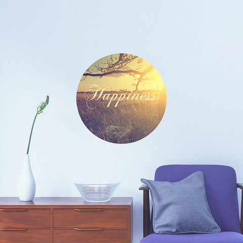 Vintage 'Happiness' Nostalgic Wall Sticker - Oakdene Designs