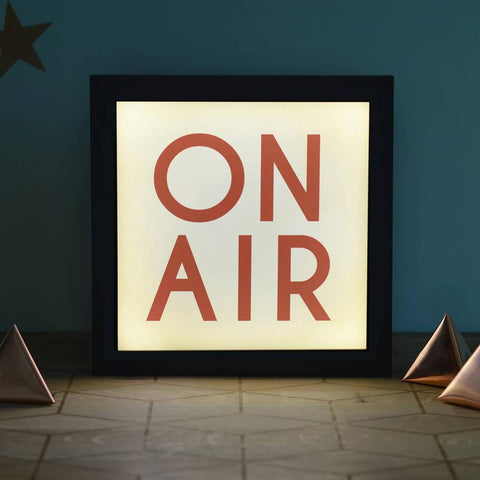 Vintage Style 'On Air' Light Box - Oakdene Designs - 1
