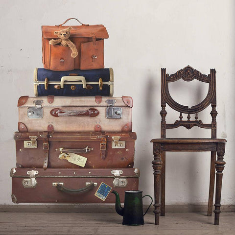 Vintage Style Suitcases Wall Sticker - Oakdene Designs - 1