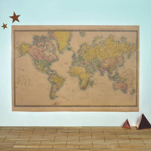 Vintage Style World Map Poster - Oakdene Designs - 1