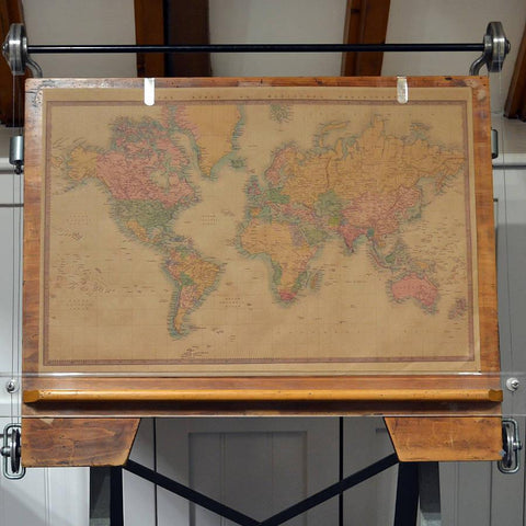 Vintage style world map poster vintage style world map poster oakdene designs 2 gumiabroncs Image collections