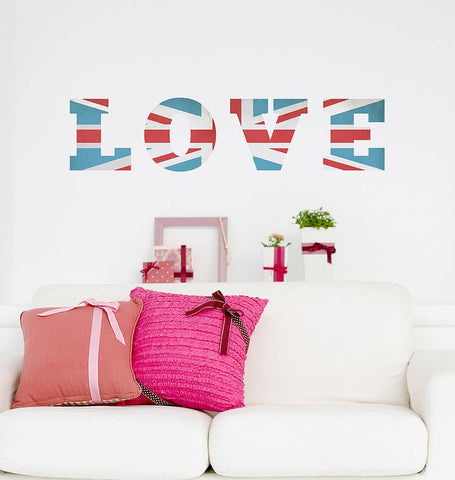 'Vintage Union Jack' Wall Sticker - Oakdene Designs - 1