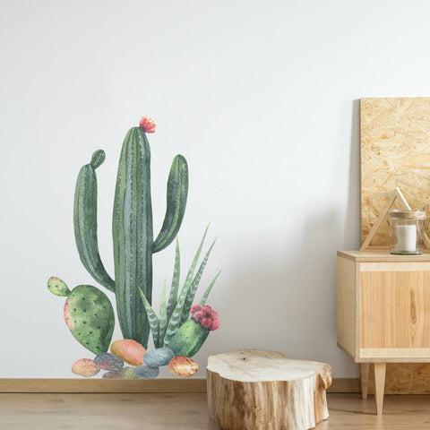 Watercolour Cactus Wall Sticker