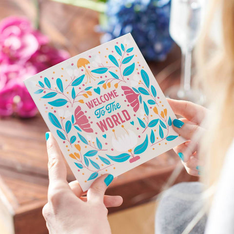 'Welcome To The World' New Baby Card Sent Direct
