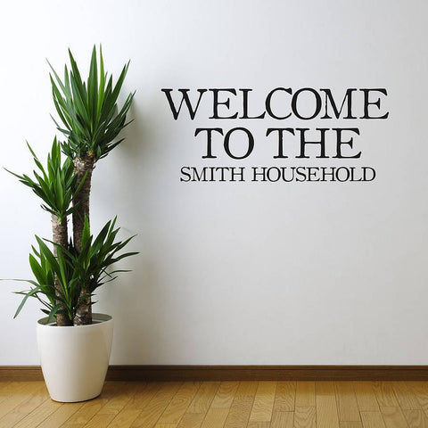'Welcome' Vinyl Wall Sticker - Oakdene Designs - 1