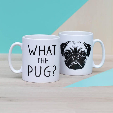 'What The Pug?' Ceramic Mug - Oakdene Designs - 1