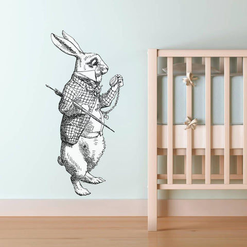 White Rabbit Vinyl Wall Sticker - Oakdene Designs - 1