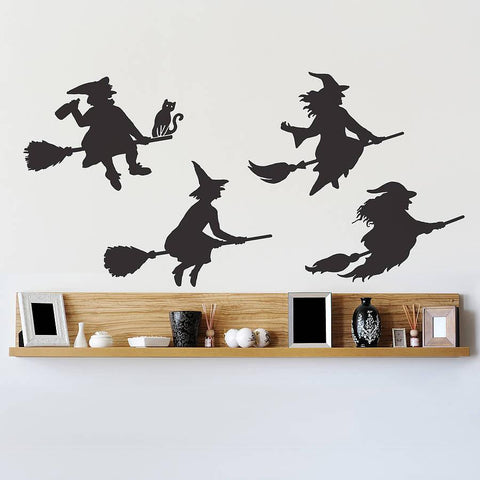 Halloween Witches Wall Sticker Set - Oakdene Designs - 1