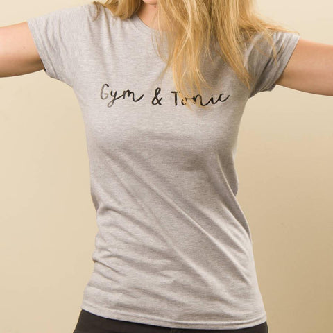 Women's 'Gym And Tonic' Cotton Gym T Shirt