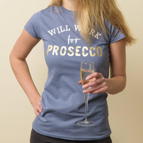 Women's Personalised 'Will Work For' Cotton T Shirt