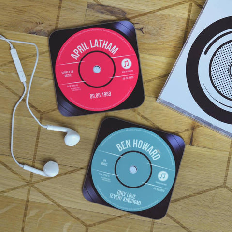 Personalised Record Vinyl Drinks Coaster - Oakdene Designs - 1