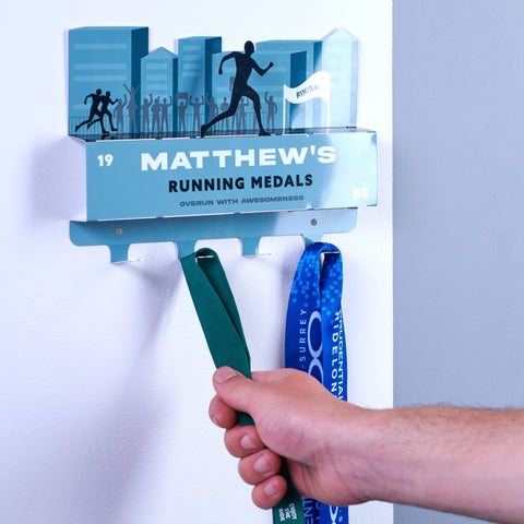 Personalised Running Medal Hook