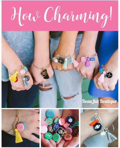 Build-A-Bangle Monogrammed Charm Bracelet Collection