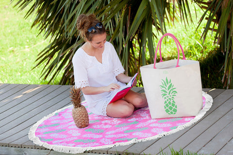 Pineapples and Palm Trees Tropical Treasures Collection