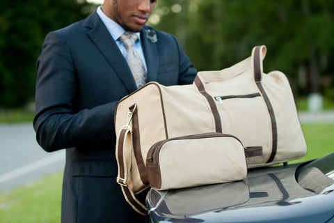 Men's Khaki Canvas Monogrammed Collection