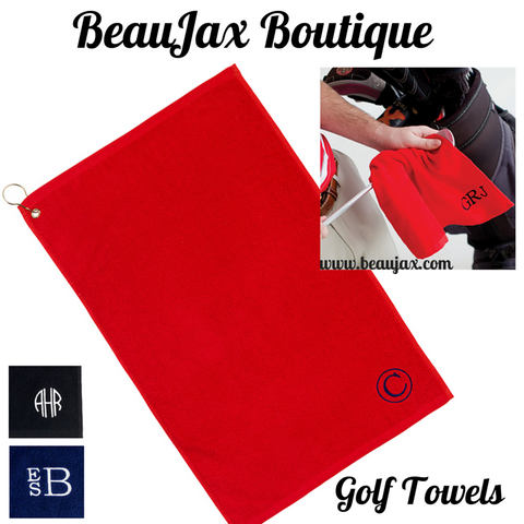 Monogrammed Golf Towels For Dad This Father's Day