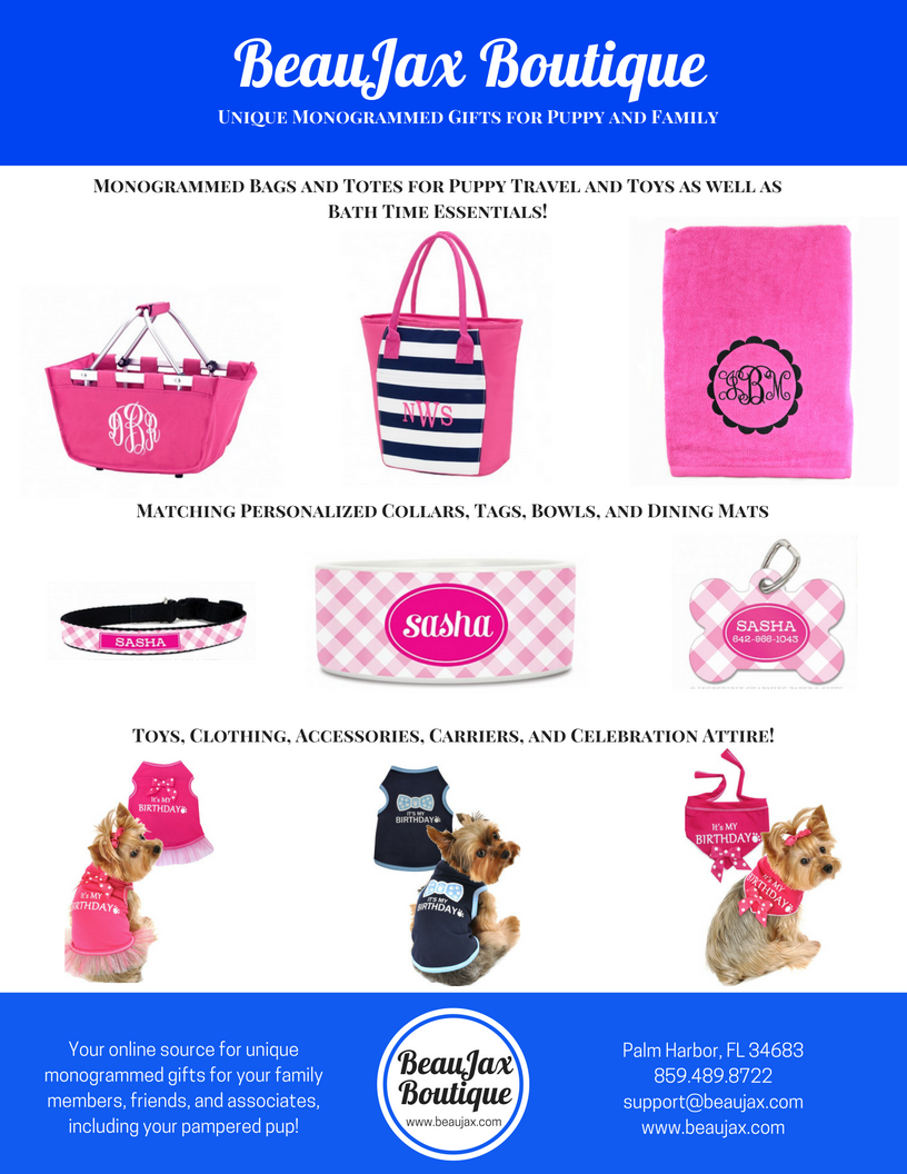 Unique Monogrammed Gifts for Puppy and Family!