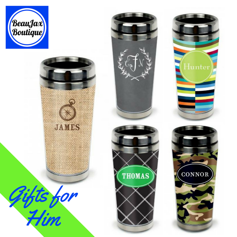 New Personalized Travel Tumblers with Patterns for HIm