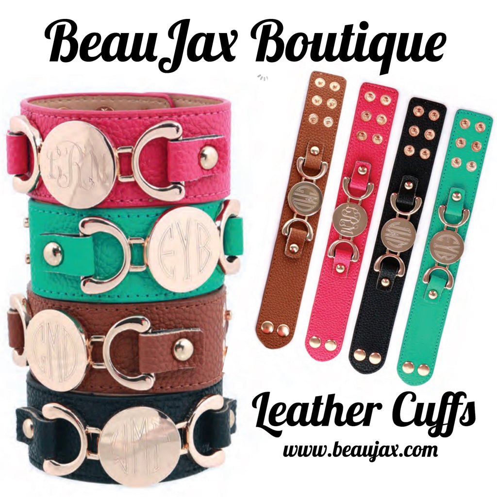 Leather Cuffs Now Available at BeauJax Boutique!