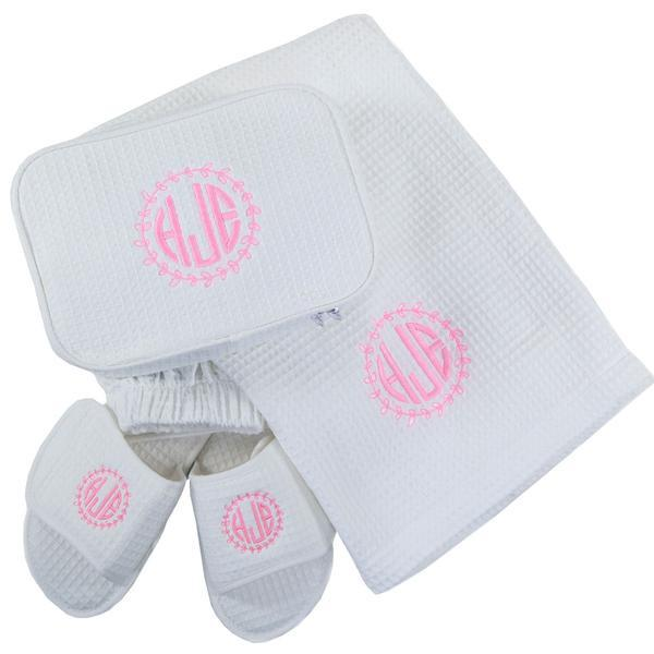 Monogrammed Pool and Bath Gift Sets on Sale now! BeauJax Boutique