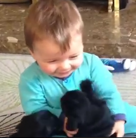 Baby and Puppy Preciousness!